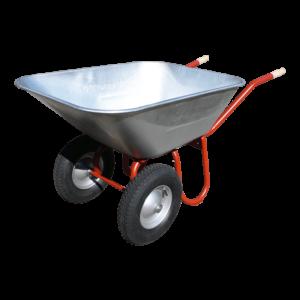 Schubkarre DUO mit 150 Liter Mulde und 2 Lufträdern